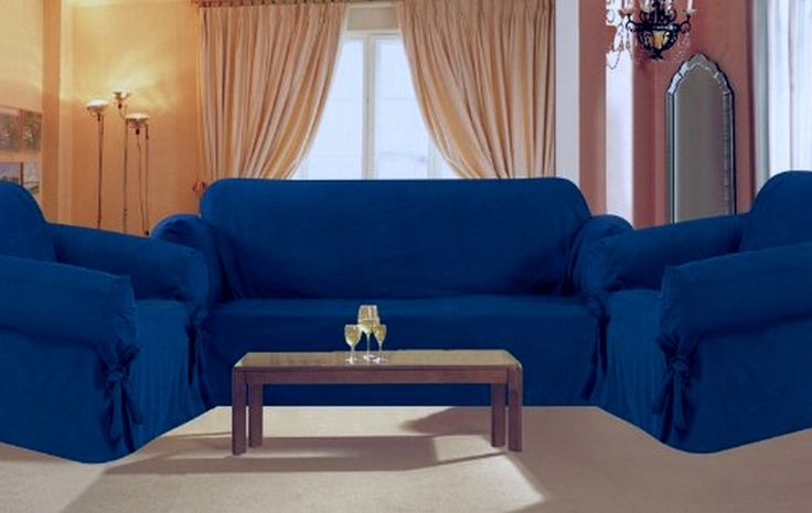 Leather Sofas Blue Sofa Cover Living Room Pinterest Sofa covers Classic furniture and Living rooms