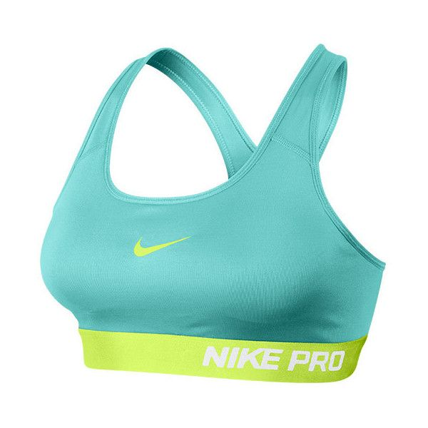 Women's Nike Pro Classic Padded Bra featuring polyvore, fashion, clothing, activewear, sports bras, nike, blue sports bra, nike activewear, yoga sports bra and racer back sports bra