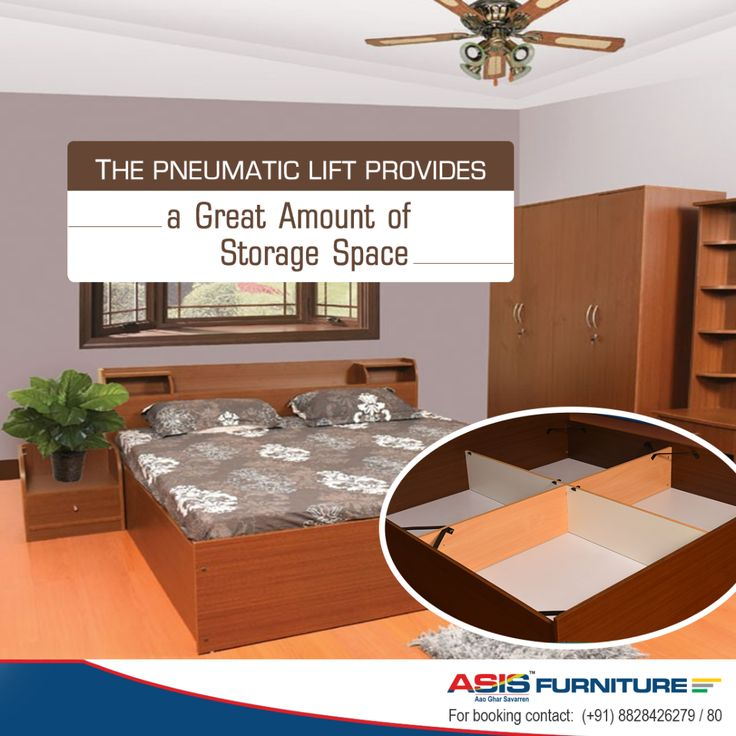 Do you wish to purchase a double bed that has ample storage space? The ASIS Antique queen bed possesses a pneumatic lift that provides enough space for you to store your items. http://bit.ly/23o23Bb