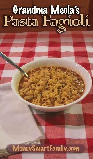 Pasta Fagioli is a classic Italian comfort food - great for cold winter nights.This is a 3rd generation recipe from Annette's grandmother.