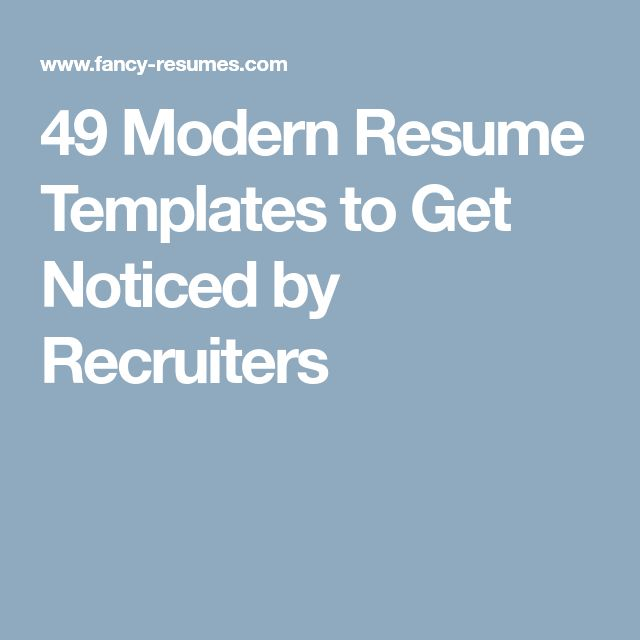 The 25+ best Modern resume ideas on Pinterest Resume ideas - Resumes That Get Noticed