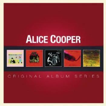 """Cofanetto contenente 5 album di #AliceCooper: """"Pretties for you"""", """"Easy action"""", """"Love it to death"""", """"Killer"""" e """"School's out""""."""