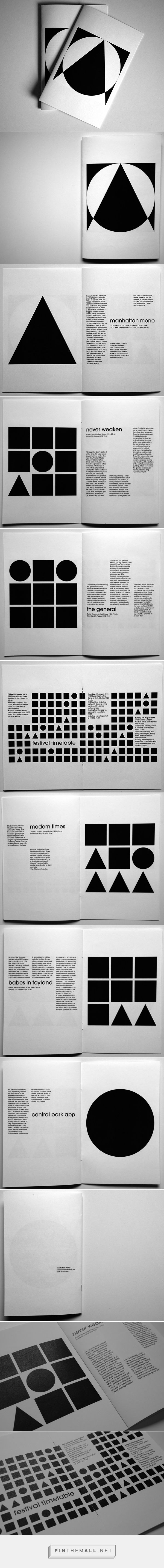 Booklet Manhattan Mono Film Festival by Elise Boevenbrink
