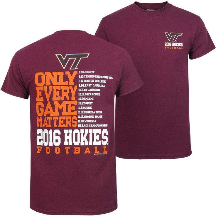 Virginia Tech 2016 Football Schedule T-Shirt