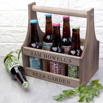 Personalised Wooden Beer Trug