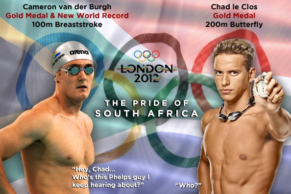 So proud of Chad le Clos and Cameron van der Burgh! Well done guys! You made SA proud!