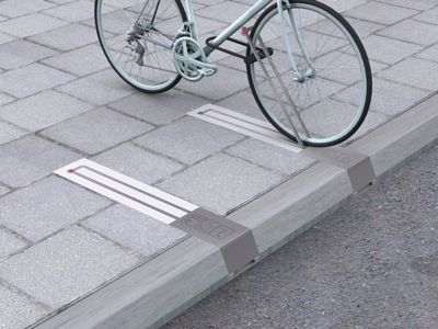 This unobtrusive bike rack takes up no space when there isn't a bike pinned to…
