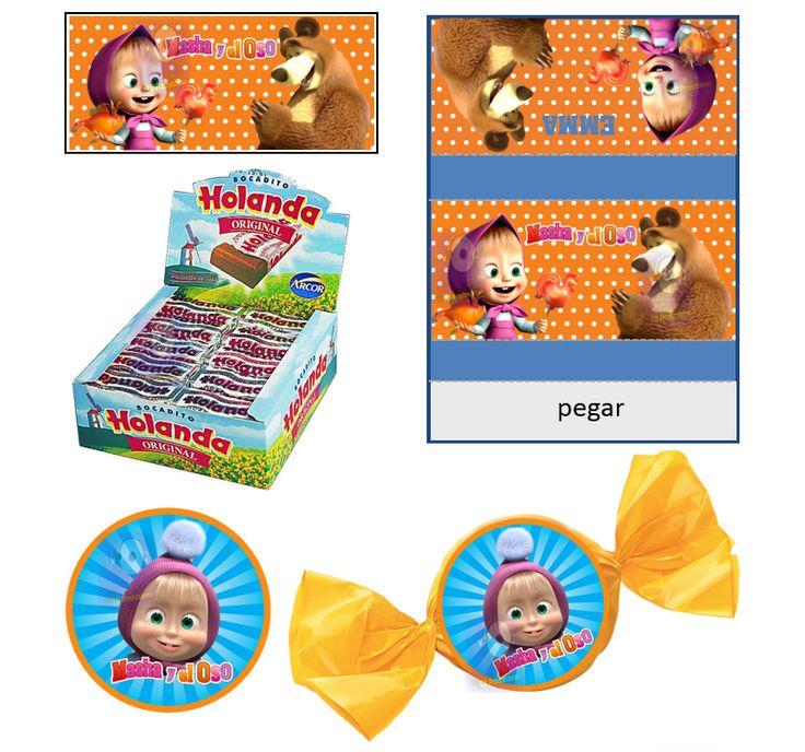 Kit Imprimible Masha Y El Oso - Cumpleaños - Candy Bar a $ 35.Juegos y Juguetes, Disfraces y Cotillón, Kits Personalizados, Otros en ElProducto.co Santa Fe