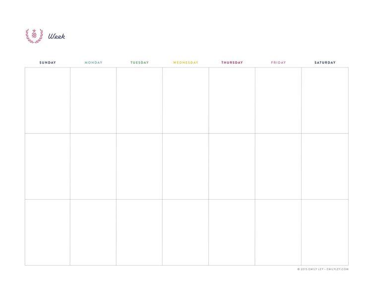 10 best Undated Calendar Planner Printables images on Pinterest - free weekly calendar