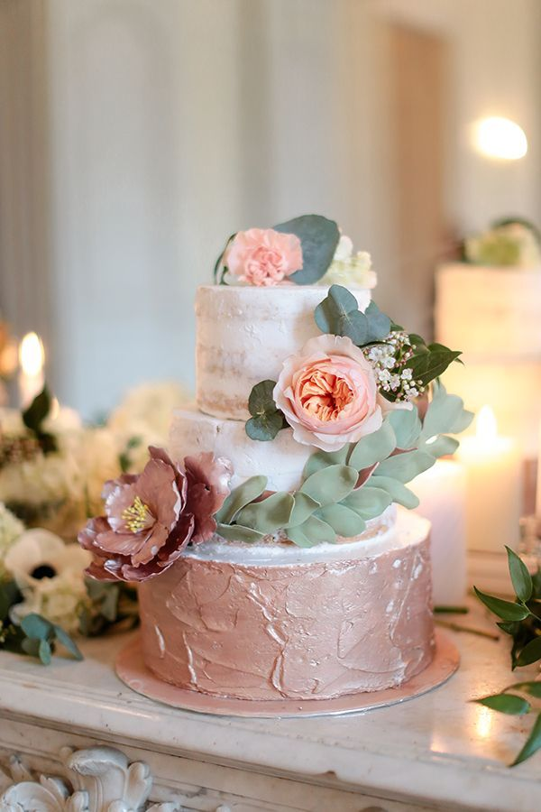 Chic Rose Gold Inspiration Shoot In A French Castle Wedding