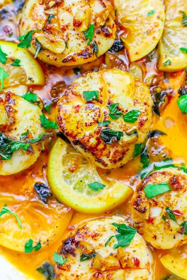 10 Minute Pan Seared Thai Chili Scallops