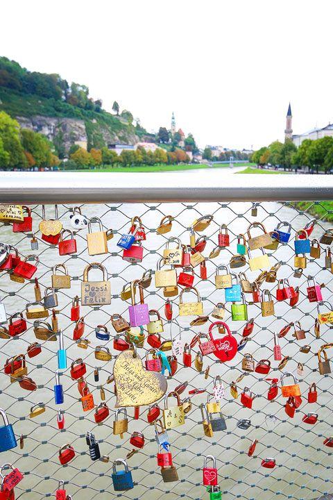 Salzburg, Austria.  Leave a lock on the bridge where Maria and Captain VonTrapp fell in love