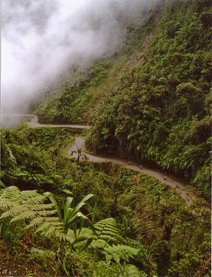 NORTH YUNGAS ROAD Death road of Bolivia