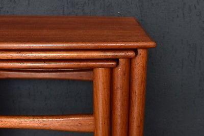 Dreisatz Tische Teakholz 3er Set side table nesting tables Made in Denmark