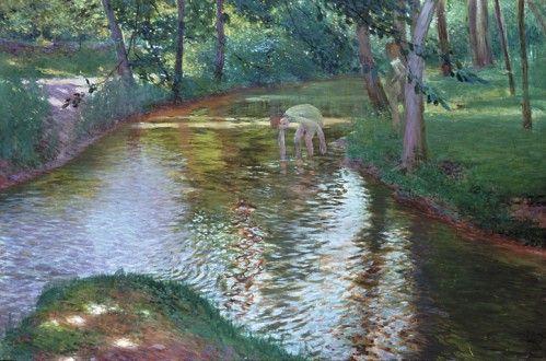 ANTONÍN HUDEČEK (1872-1941) Koupání Bathing