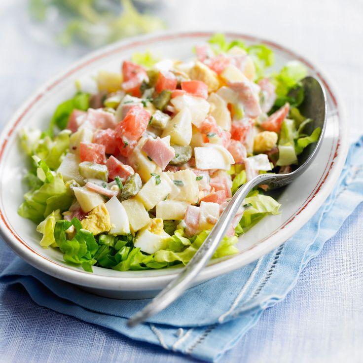 Découvrez la recette Salade piémontaise sur cuisineactuelle.fr.