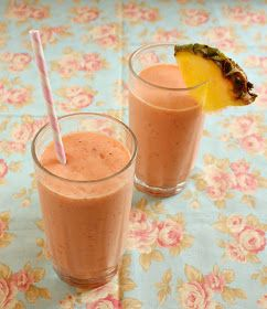 Vanilla Clouds and Lemon Drops: Creamy Tropical Fruit Smoothie