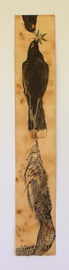 Alexis Neal, <i>Aroharoha</i>, relief etching on 970 x 170 mm paper, from an edition of 12, 2012. NZ$600 incl GST.