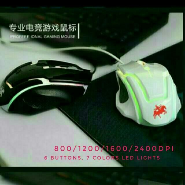 👍 Buy from reliable local distributor with 600 ➕ positive feedback6 Buttons USB Gaming Optical Mouse with awesome 7 led colours lights changing at a pulsating rate. 800/1200/1600/2400DPIL13cm X W8cm X H4cmSuitables for all Windows such as Vista, Windows 7, 8, 8.1, 10, MAC, etcBuy 1 @ $11Buy 2 @ $20In stock Tags : gaming game mouse optical led Windows mac USB lights Bluetooth PC computer laptop, TV box redmi xiaomi mobile handphone iPad iPhone Samsung ASUS Lenovo joysticks Xbox Ps keyword…