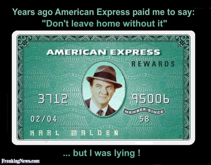Karl Malden's American Express Card