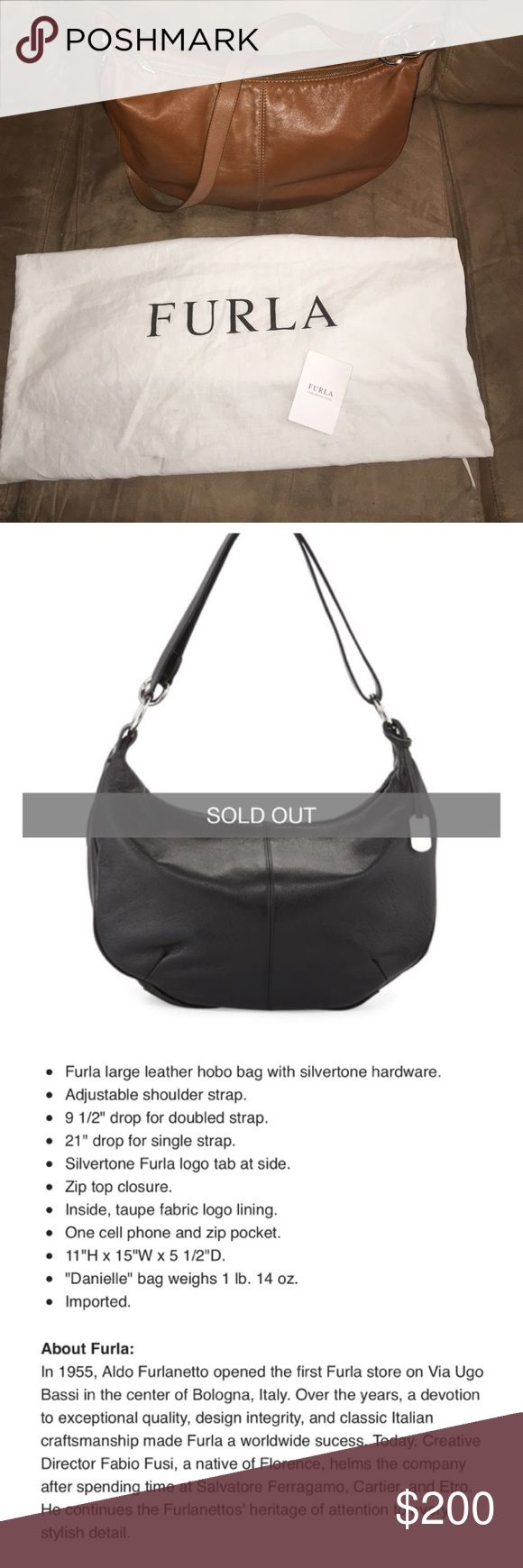 Furla Hobo Handbag Furla Hobo Large Handbag Caramel..... This bag is sold out online at Nieman Marcus Furla Accessories