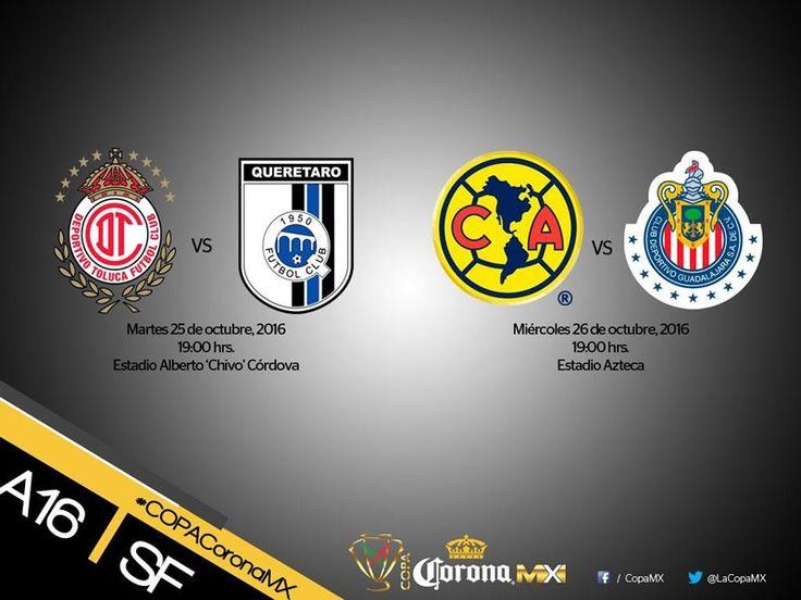 Ya hay hora para el clásico América vs Chivas en la semifinal de la Copa MX A2016 - https://webadictos.com/2016/10/20/horarios-semifinales-copa-mx-a2016/?utm_source=PN&utm_medium=Pinterest&utm_campaign=PN%2Bposts