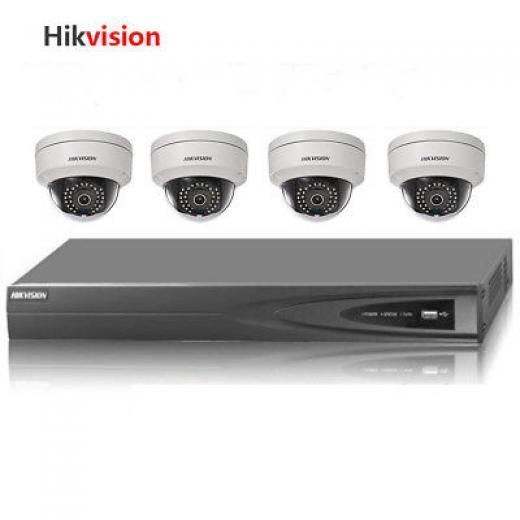 Hikvision 4ch 4poe Nvr &4*4mp Poe Camera Kit Cctv Security System Ds-7604ni-e1/4p+4 X Ds-2cd2142fwd-iws China Wired Yes Ip//network -