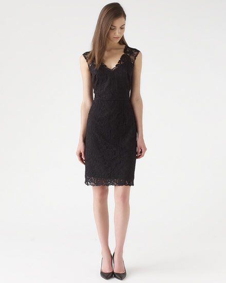 Lace Appliqué Shift Dress #JigsawAW14