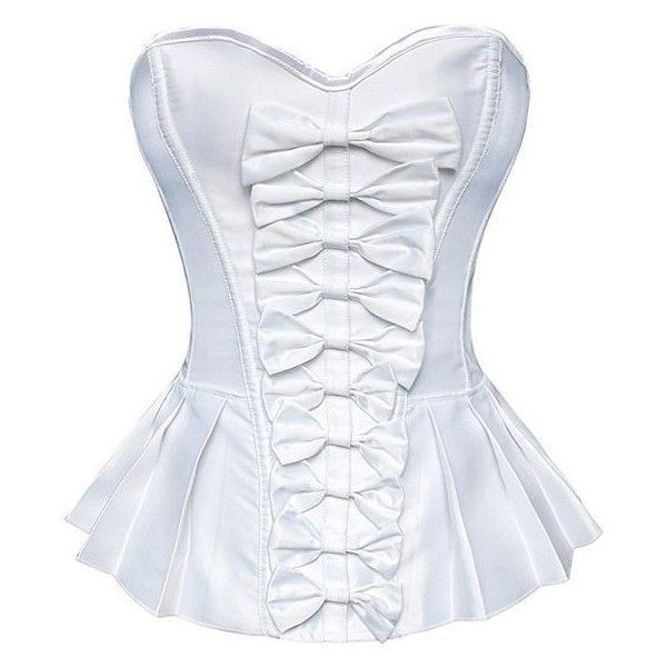 Strapless Bowknot Underbust Steel Boned Corset ($18) ❤ liked on Polyvore featuring intimates and shapewear