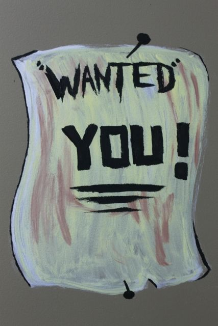 Wanted poster in Faithville