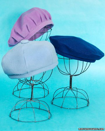 Martha Stewart Woolen Beret pattern: Woolen Berets, Sewing Projects, Wool Berets, Cute Hats, Hats Stands, Sewing Ideas, Martha Stewart, Berets Patterns, Sewing Patterns
