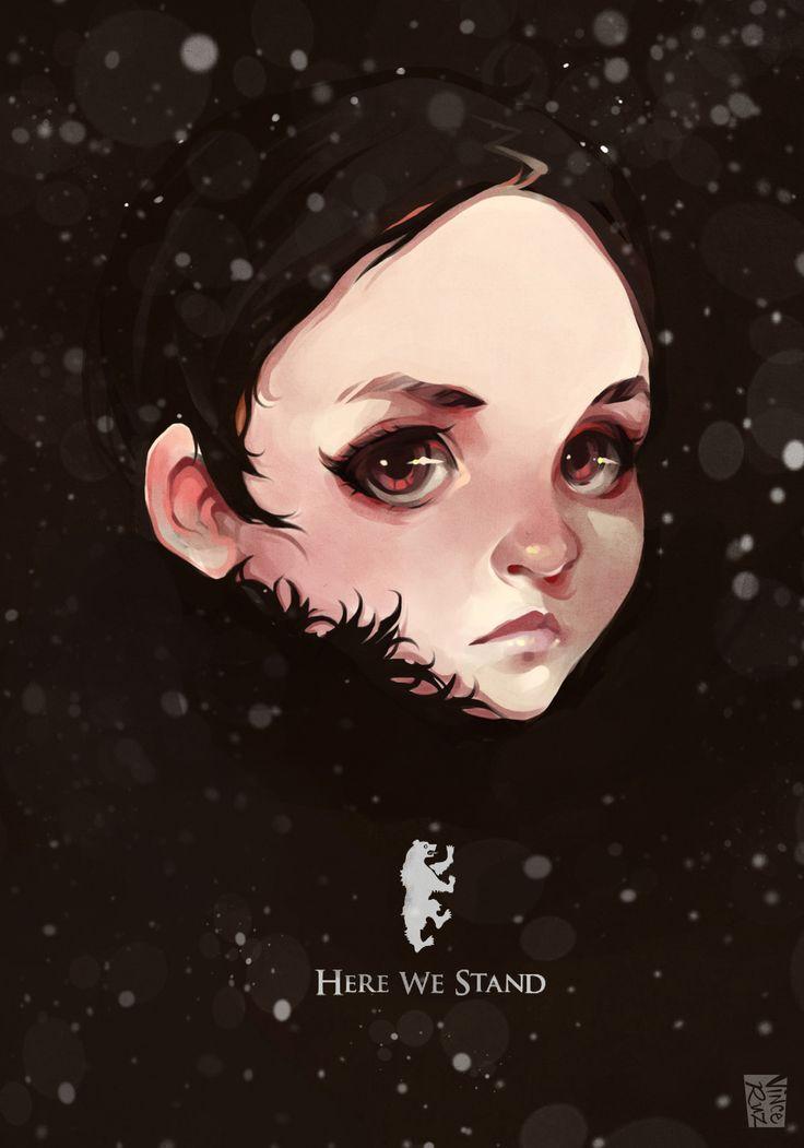 Lyanna Mormont, Vince Ruz on ArtStation at https://www.artstation.com/artwork/DE66o