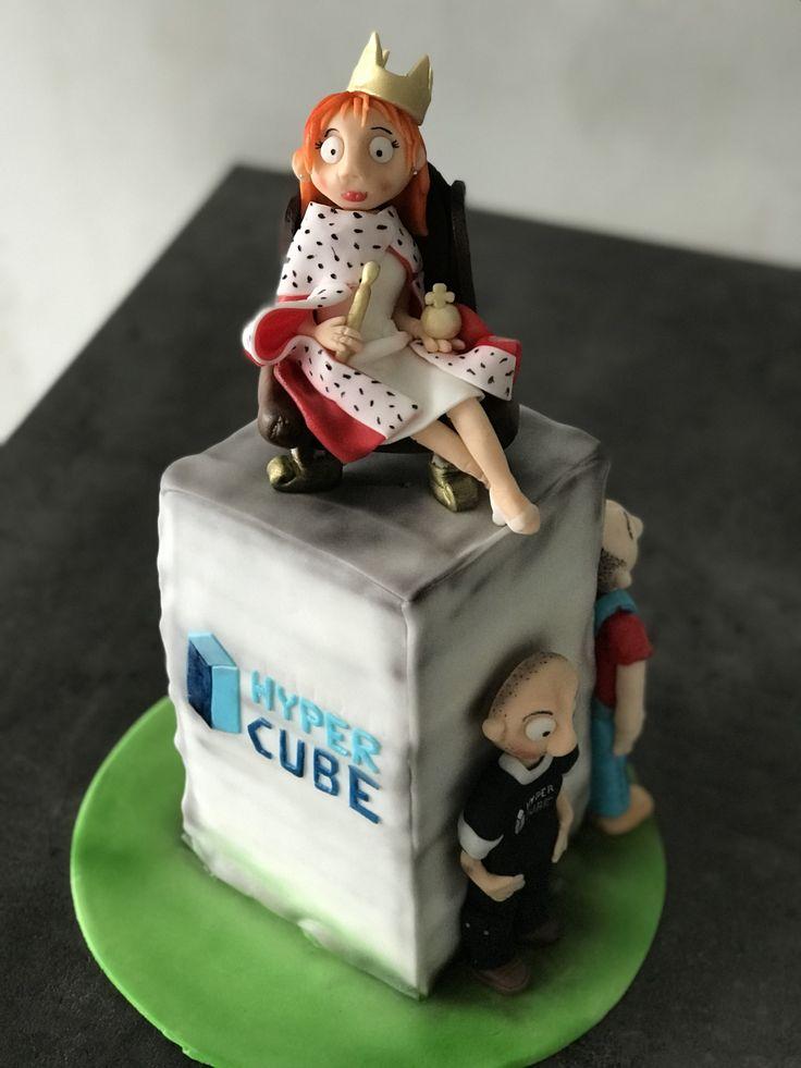 hyper cube work cake