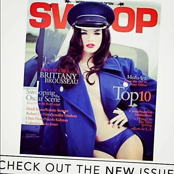 Brittany Brousseau covers Swoop Magazine Spring 2013