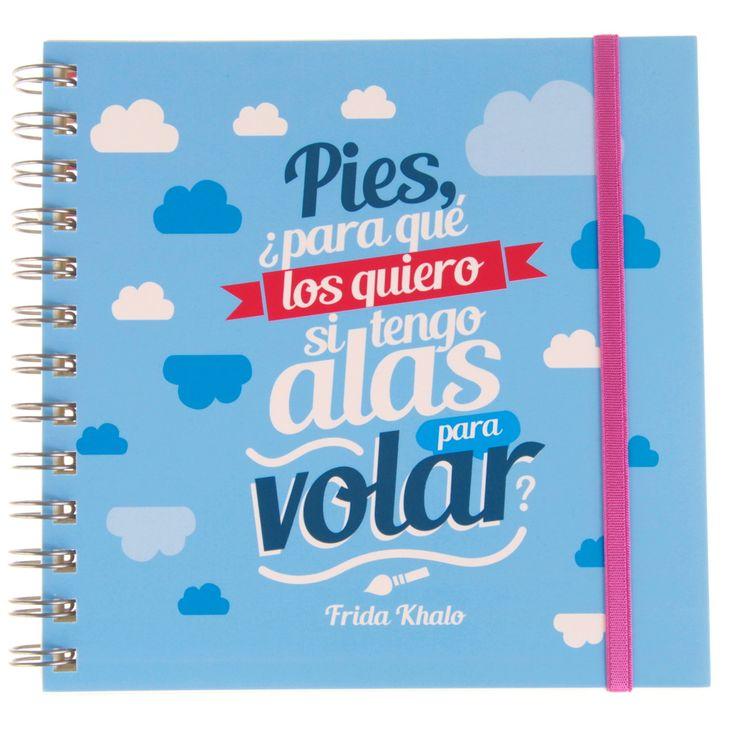 Cuaderno frase original - Frida Kahlo | Citarte Tienda | Elo7