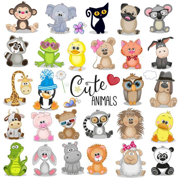 Reginast777 Stock Image And Video Portfolio Istock Cute Cartoon Animals Cartoon Animals Cute Animal Illustration