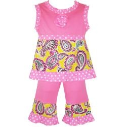 @Overstock - Make your little girl the talk of the town by dressing her in this girls clothing set by AnnLoren. It features an adorable paisley print, baby doll-style top, and sash ties for extra cuteness.http://www.overstock.com/Clothing-Shoes/AnnLoren-Girls-Pink-Paisley-and-Polka-Dots-Capri-and-Tank-Set/6440455/product.html?CID=214117 $26.89Adorable Paisley, Boutique Stor Ideas, Girls Swag, Clothing Sets, Pretty Girls, Paisley Print, Baby Girls, Baby Dolls Styl, Paisley Sets