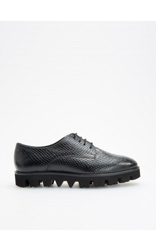 Polbuty Na Grubej Podeszwie Espadryle Loafersy Baleriny Czarny Reserved Dress Shoes Men Oxford Shoes Sole Shoes