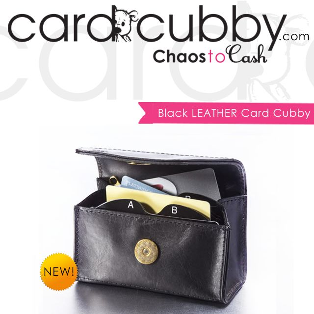 New Product! Our Black Leather Card Cubby features RFID-blocking lining designed to deter credit card scanning! | BUY IT NOW: http://cardcubby.com/collections/card-cubby/products/black-card-cubby #cardcubby #couponcubby #card #cubby #creditcard #coupon #saving #money #wallet #purse #bag #giftcard #gift #shopping #ideas #tips
