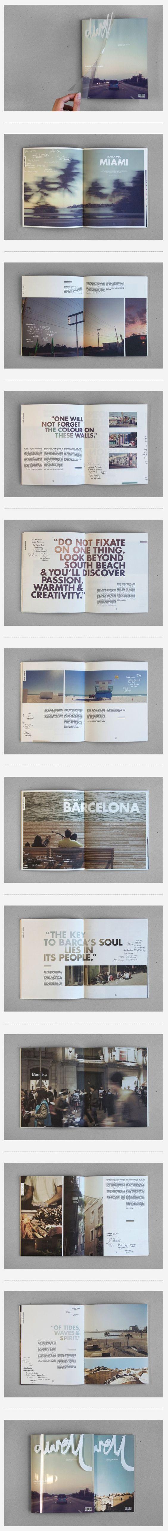 포토북. 단순한 구조. 여행의 기억을 이미지화하고 텍스트와 시각적으로 조합시킴. 제본으로 완성.: