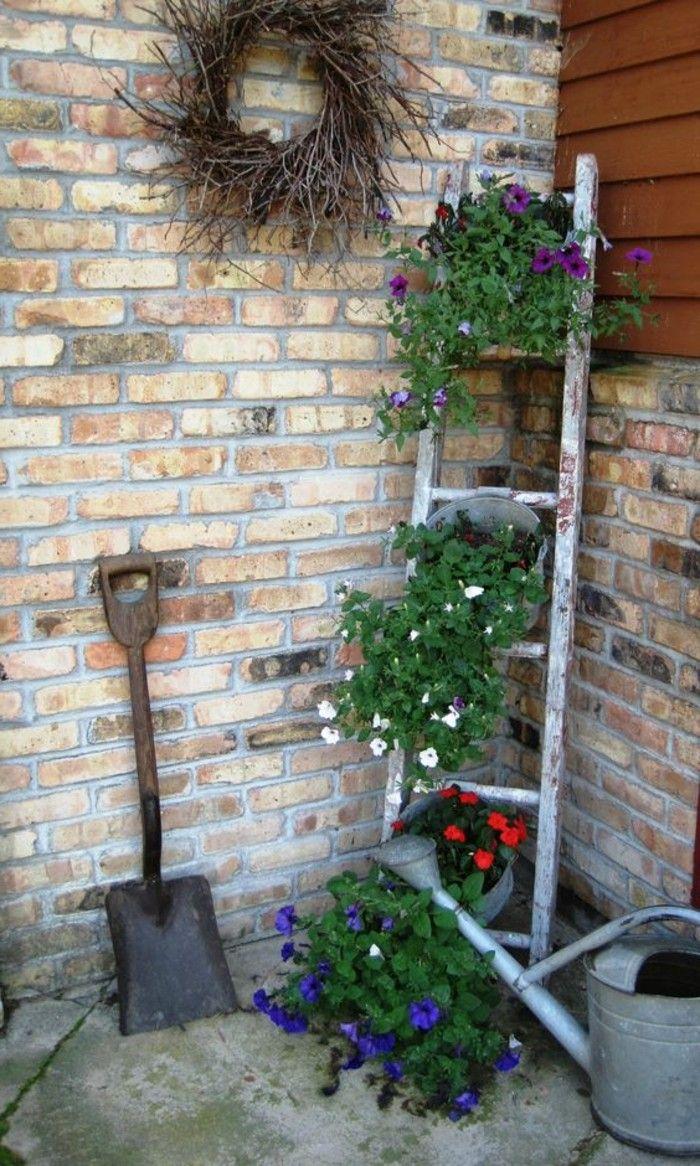 Deko ideen selber machen garten  Die besten 25+ Blumentreppe Ideen auf Pinterest | Vertikale ...