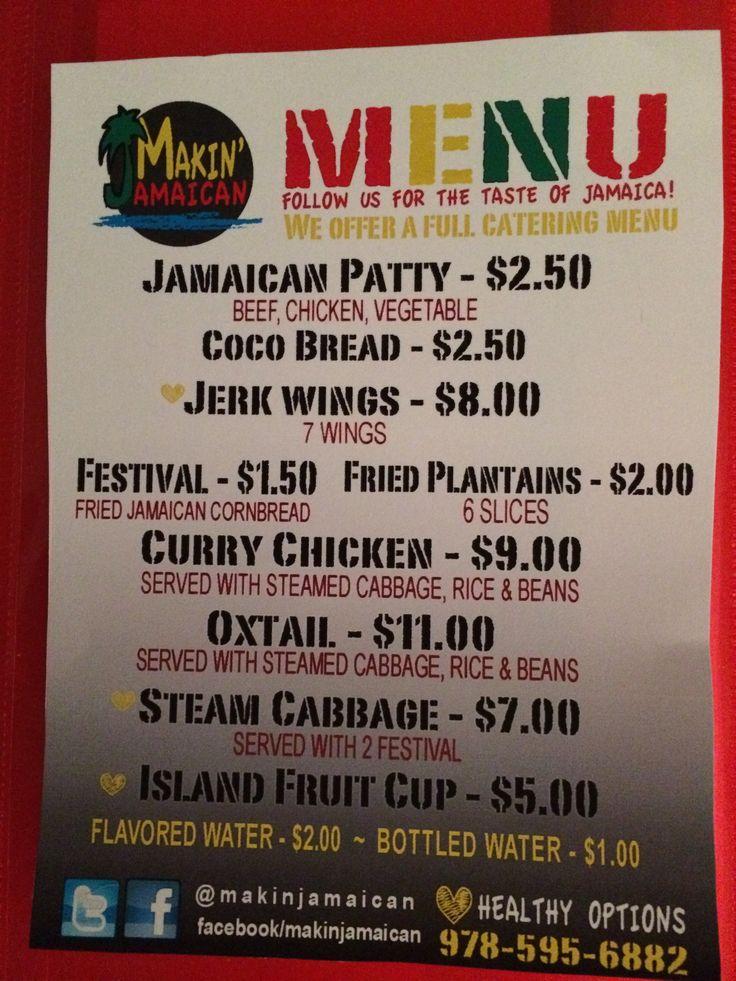 jamaican menu templates