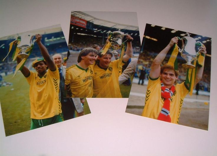 norwich city fc 1985 milk cup final winners set of three 12 x 8 photos from $31.47