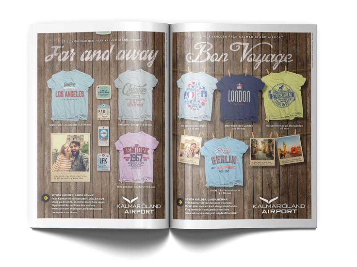 Souvenir-t-shirts marknadsför flygplatsens utbud! #ad