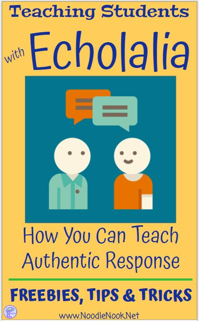 Teaching Students with Echolalia- Practical tips for getting authentic speech.