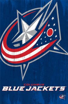 Columbus Blue Jackets Official NHL Hockey Team Logo Poster - Costacos Sports