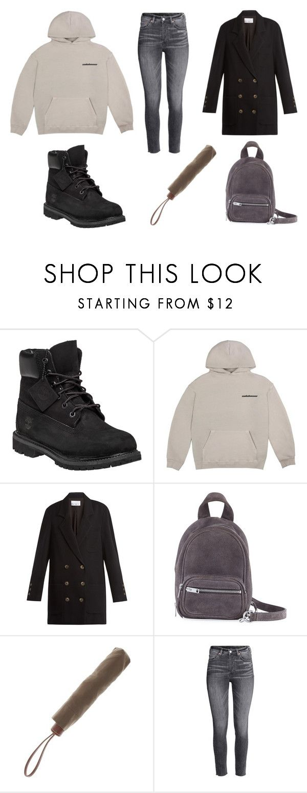 """Drops"" by silverbirds on Polyvore featuring moda, Timberland, Raey, Alexander Wang y Longchamp"