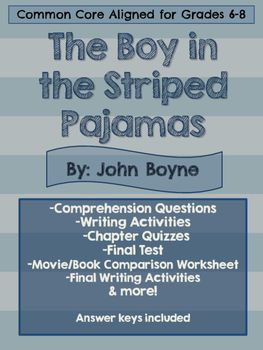 best the boy in striped pyjamas images pajamas the boy in the striped pajama novel packet comprehension questions journal prompts writing