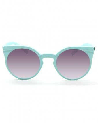 Marco de policarbonato, lente de policarbonato.Bisagras de acero inoxidable 100% de protección UV Colores: Azul suave, Morado suave