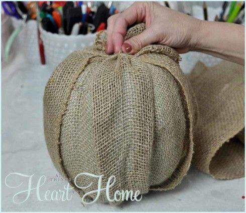 Burlap Pumpkin Craft
